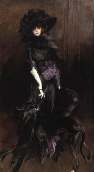 Portrait of Marchesa Luisa Casati with a greyhound 1908