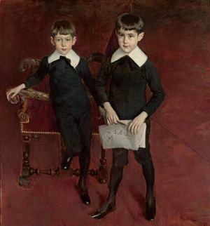Giovanni Boldini - Portrait Of Luis And Pedro Subercaseaux