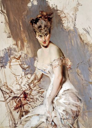 Giovanni Boldini - Portrait of Alice Regnault