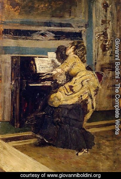 Giovanni Boldini - Gentleman at the piano