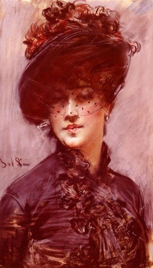 Giovanni Boldini - Lady with a Black Hat