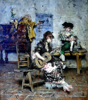 Giovanni Boldini - A Guitar Player