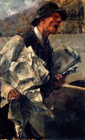 Giovanni Boldini - Newspaperman in Paris (The newspaper)