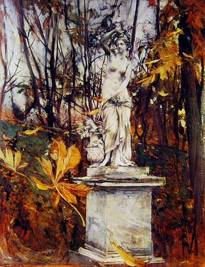 Giovanni Boldini - Statue in the Park of Versailles