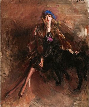 Giovanni Boldini - Lady with Black Greyhound