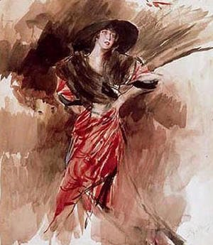 Giovanni Boldini - Lady in Red Dress