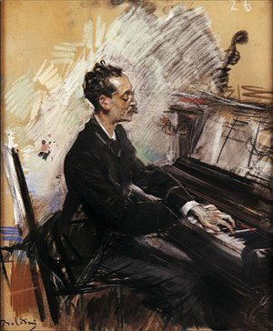 Giovanni Boldini - The Pianist A. Rey Colaco