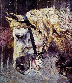 Giovanni Boldini - The Head of a Horse