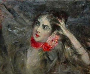 Giovanni Boldini - Princes Radziwill with Red Rbbon