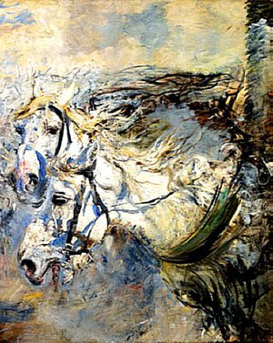 Giovanni Boldini - Two White Horses
