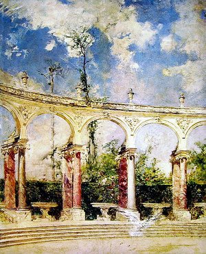 Giovanni Boldini - The Collonade in Versailles