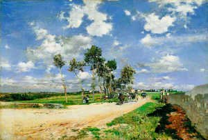 Giovanni Boldini - The Great Road in the Villas Combes