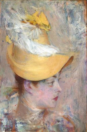 Head of a Lady with Yellow Sleeve