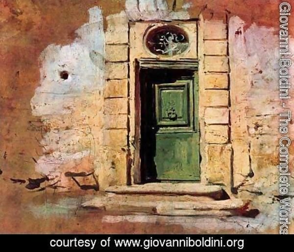 Giovanni Boldini - Door in Montmartre