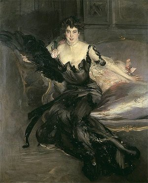 Giovanni Boldini - Portrait of a Lady, Mrs Lionel Phillips