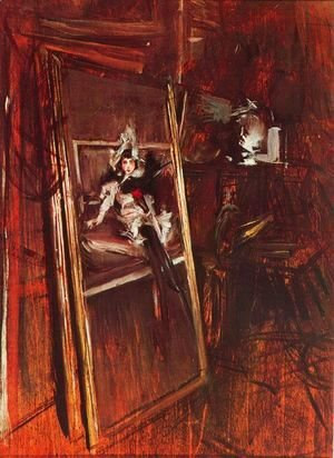 Giovanni Boldini - Inside the Studio of the Painter with Errazuriz Damsel