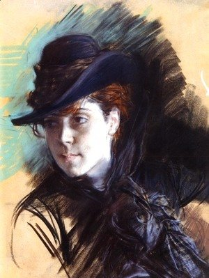 Girl In A Black Hat