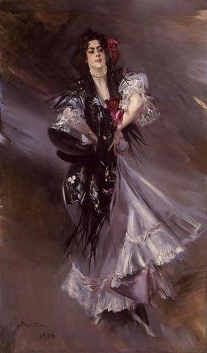 Giovanni Boldini - Portrait Of Anita De La Ferie  The Spanish Dancer