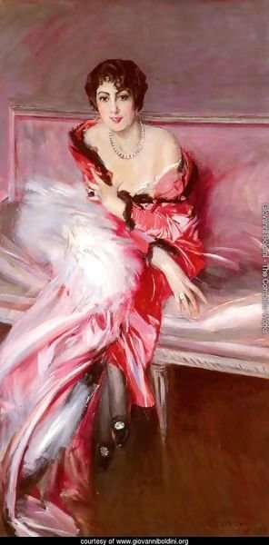 Portrait Of Madame Juillard In Red