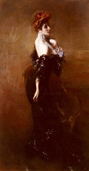 Giovanni Boldini - Portrait Of Madame Pages In Evening Dress