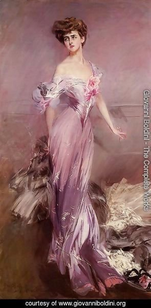 Giovanni Boldini - Portrait Of Mrs  Howard Johnston